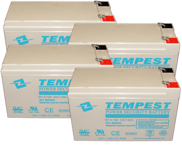 333 rbc57 cartridge batteries (kit includes four 12v 7 5ah tempest rbc57 wiring diagram at gsmportal.co